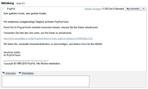 paypal email ändern
