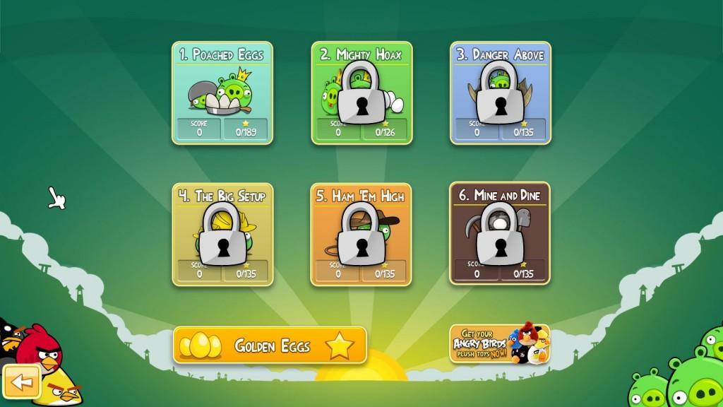 Angry Birds Levelübersicht