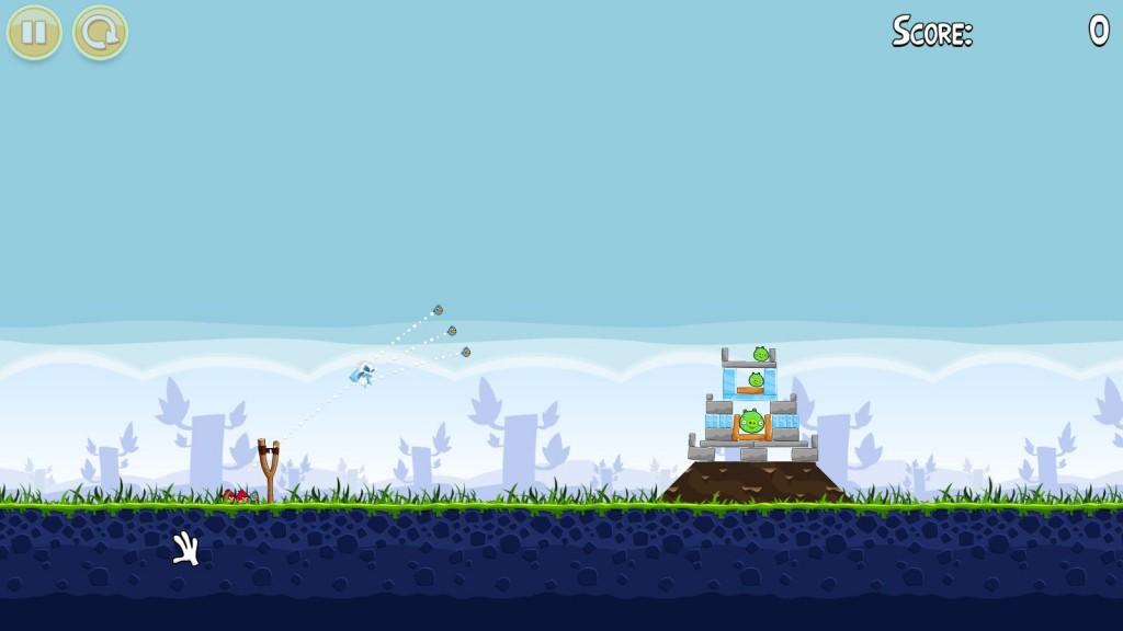 Angry Birds Level und die Grafik