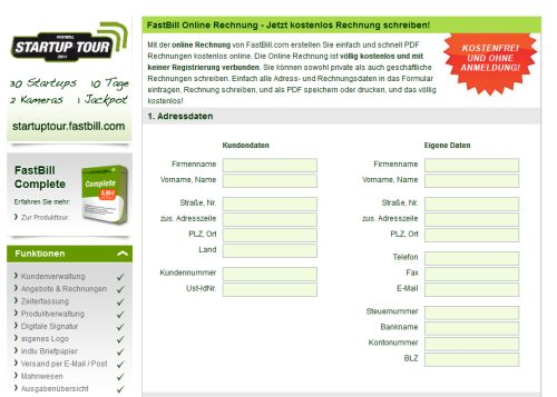 Rechnung Kostenlos Online Schreiben Und Komplett Ohne Registrierung