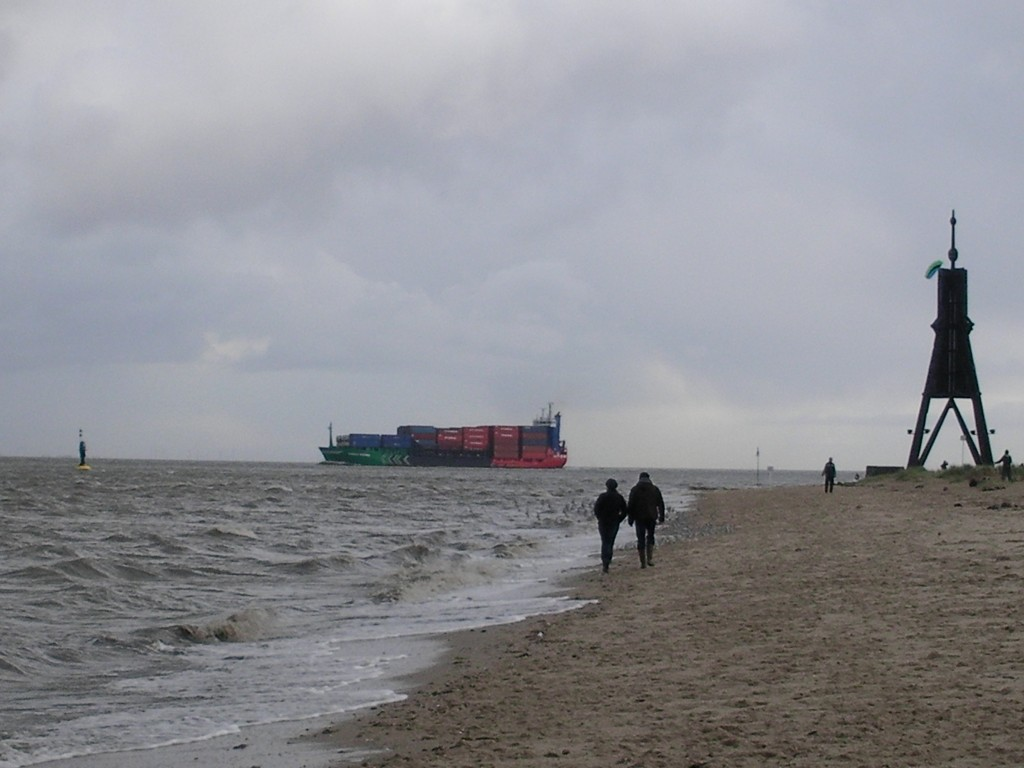 Kugelbake Cuxhaven Sturm