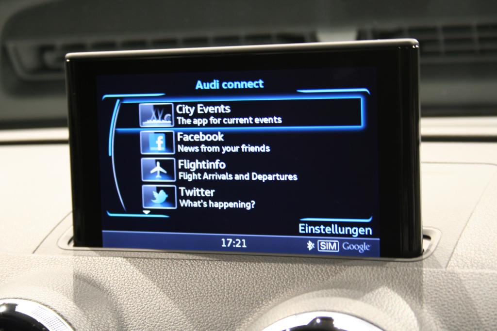 Audi A3 2012 Social Network