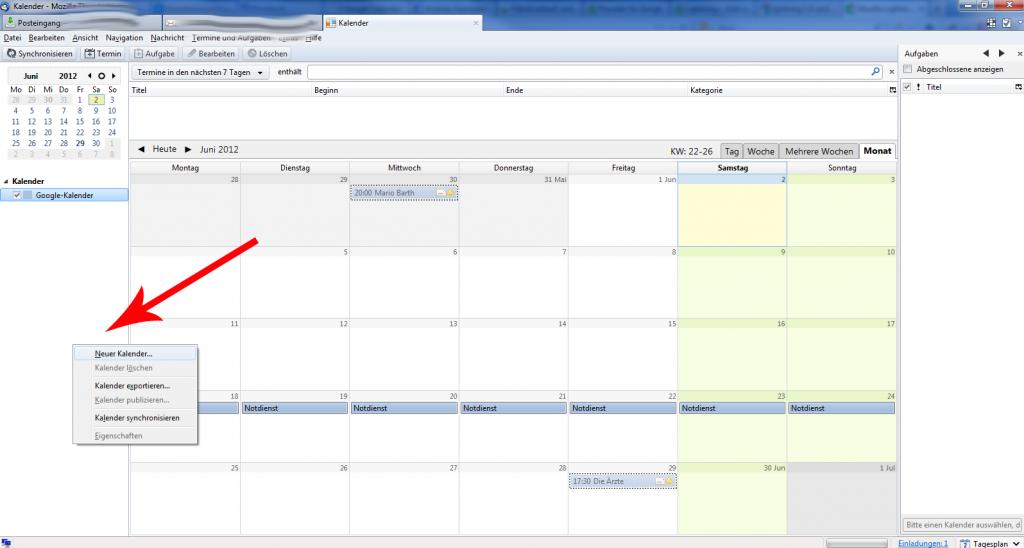 Thunderbird Google Kalender