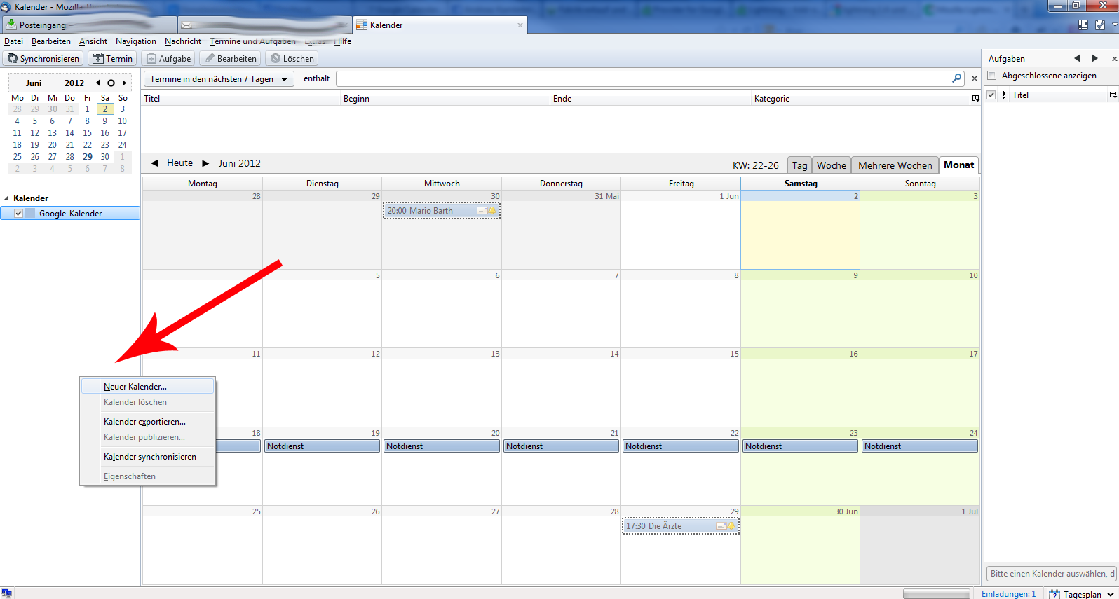 Google Kalender In Thunderbird Importieren