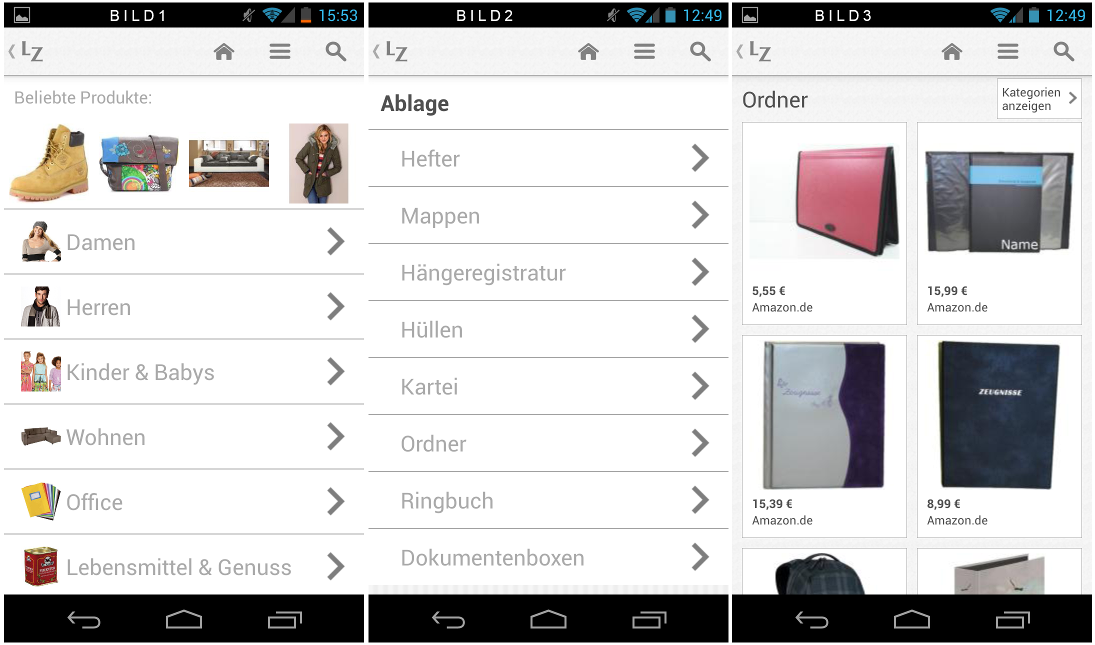 2828ccaa1ac5e9 Ladenzeile Android App im Test – von unterwegs einkaufen - Technik ...