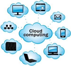 Die Cloud vernknüpft verschiedene mobiel Endgeräte mit der Datenbank