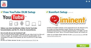 Free YouTube Download Manager Installationsbildschirm