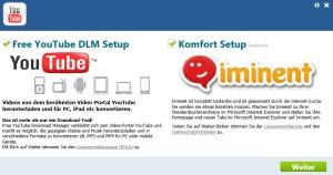 Free YouTube Download Manager Installationsbildschirm