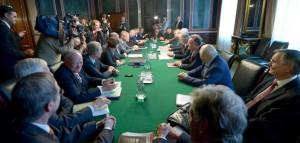 SPD und CDU verhandeln über die Bedingungen einer großen Koalition