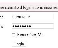 Falsches Passwort