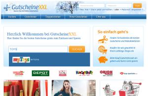Gutscheinportal GutscheineXXL