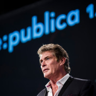 David Hasselhoff  auf der re:publica 2014 © re:publica 2014 - flickr.com